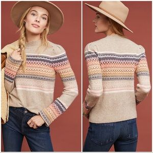 Anthropologie Fargo Fair Isle Sweater